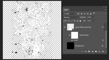 making the background layer invisible