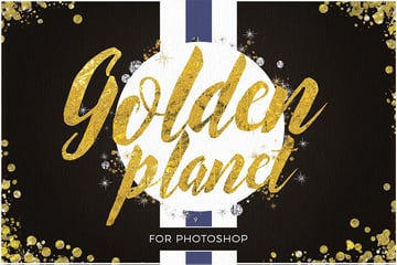 golden planet for photoshop