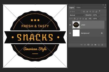 placing a logo inside the document