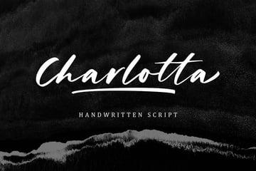 charlota handwritten script