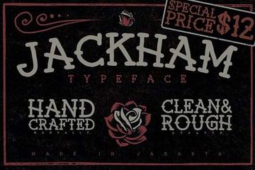 Jackham - old school tattoo font