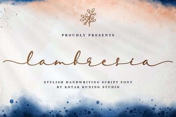Lambresia Script Font