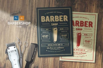 Barber Shop Flyer by Lilynthesweetpea