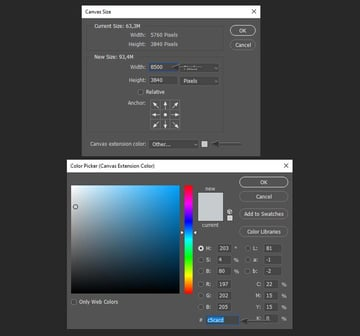 Extending the background in Photoshop