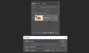unlocking and renaming the background layer