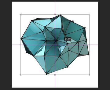 how to center a layer in Photoshop-centring a layer with transform tool and shift button