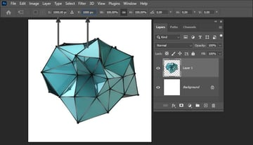 how to center an object in Photoshop-putting object in the center by entering the coordinates