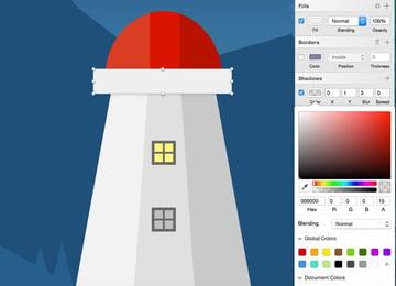 Create rectangle between hemisphere and tower