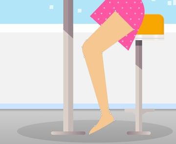Girl back leg shape