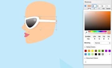 Girl - sunglasses shadow