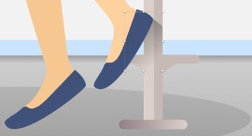 Add shadow below the shoe and over the stool leg finished