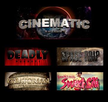 3D Cinematic Text Generator