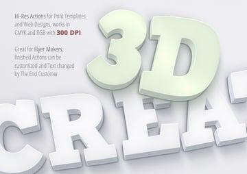 Hi-res 3D actions