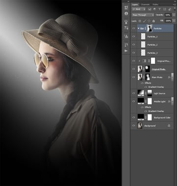Adding feather to layer mask