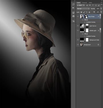 Creating the layer mask using selection