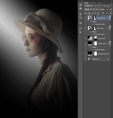 Duplicating main photo layer