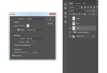 Filling work path with Typography_Pattern_1