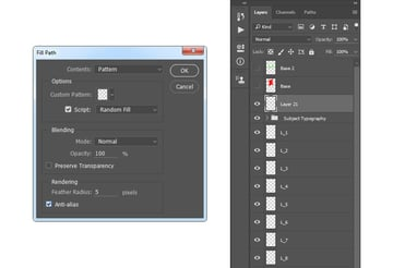 Filling work path with Typography_Pattern_3