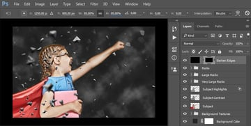 Transforming the layer mask