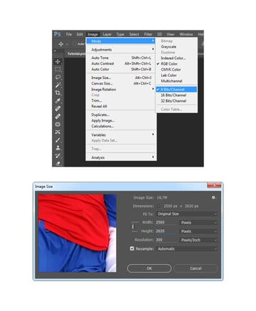 Checking the image size and mode