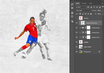 Creating clipping mask and changing blending mode