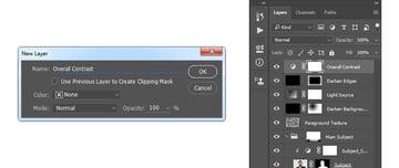 Creating gradient map adjustment layer