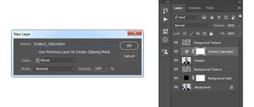 Creating huesaturation adjustment layer