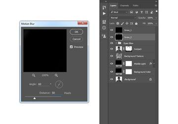 Adding motion blur filter