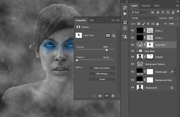 Changing layer mask density