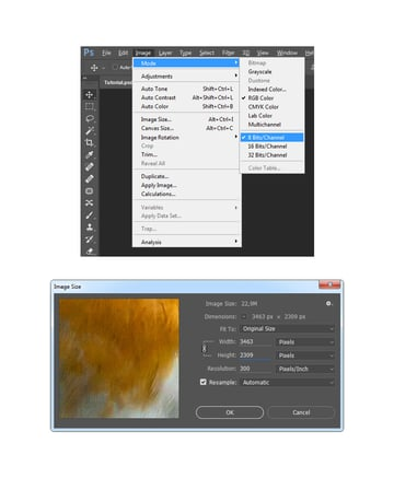 Checking image size and mode