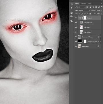 Brushing into layer mask