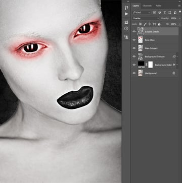 Changing the blending mode