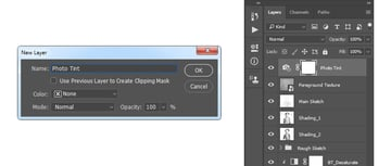 Creating new photo filter adjustment layer