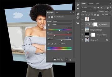Adjusting saturation and brightness