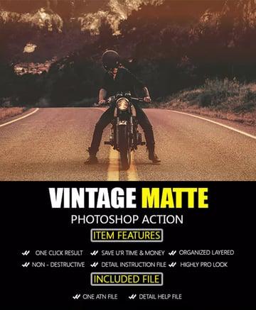 Vintage Matte Photoshop Action