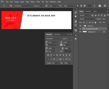 creating text layer