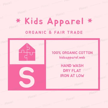 kids clothing label design template