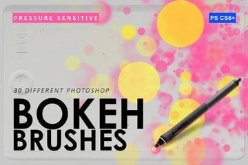 30 bokeh photoshop brushes