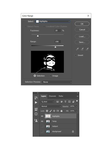 making selection using color range