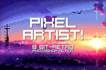 pixel artist photoshop action