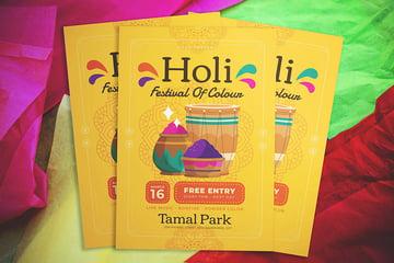 holi festival flyer