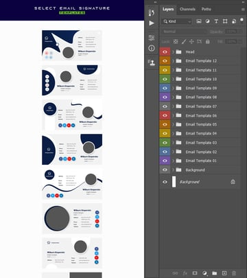 deselecting layers