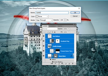 Create Group from Layers in Photoshop