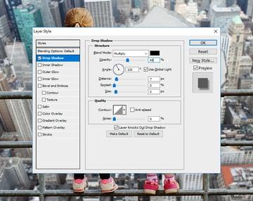 Add Drop Shadow in Photoshop