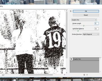 Graphic Pen Photoshop Filter