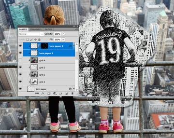Create Clipping Mask in Photoshop