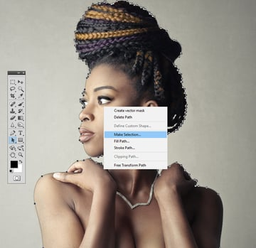 Make a Selection from a Path in Photoshop