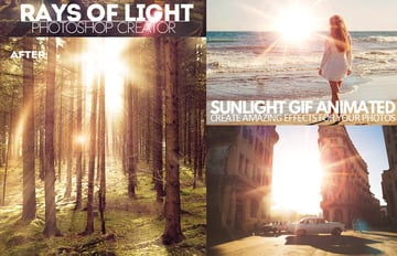 Sunlight Rays Photoshop Action
