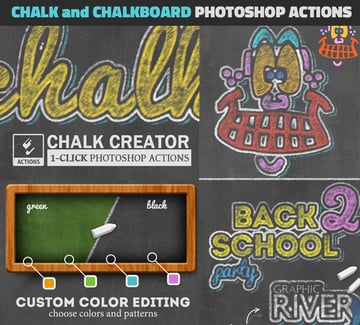 Chalk Effects and Chalkboard Photoshop Action