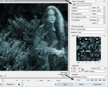 Save GIF Animation in Photoshop